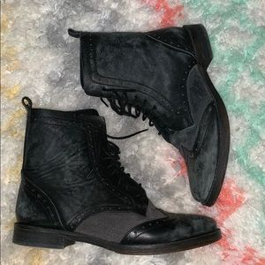 Free People Black Western Style Boots